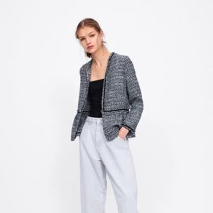 Zara Jackets & Coats - Zara 'Chanel tweed' lookalike jacket